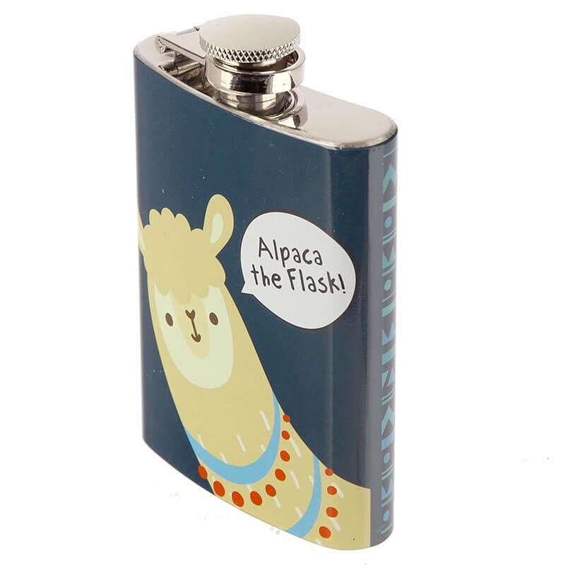 Handy Stainless Steel 6oz Hip Flask - Alpaca The Flask