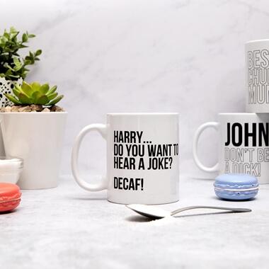 Personalised Do You Want To Hear a Joke Mug