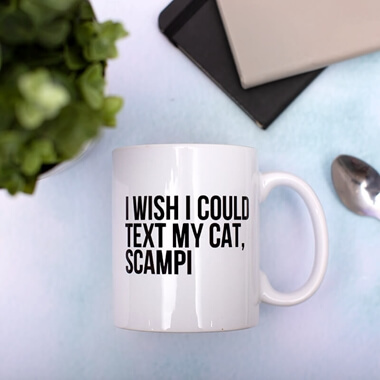 Personalised Text My Cat Mug