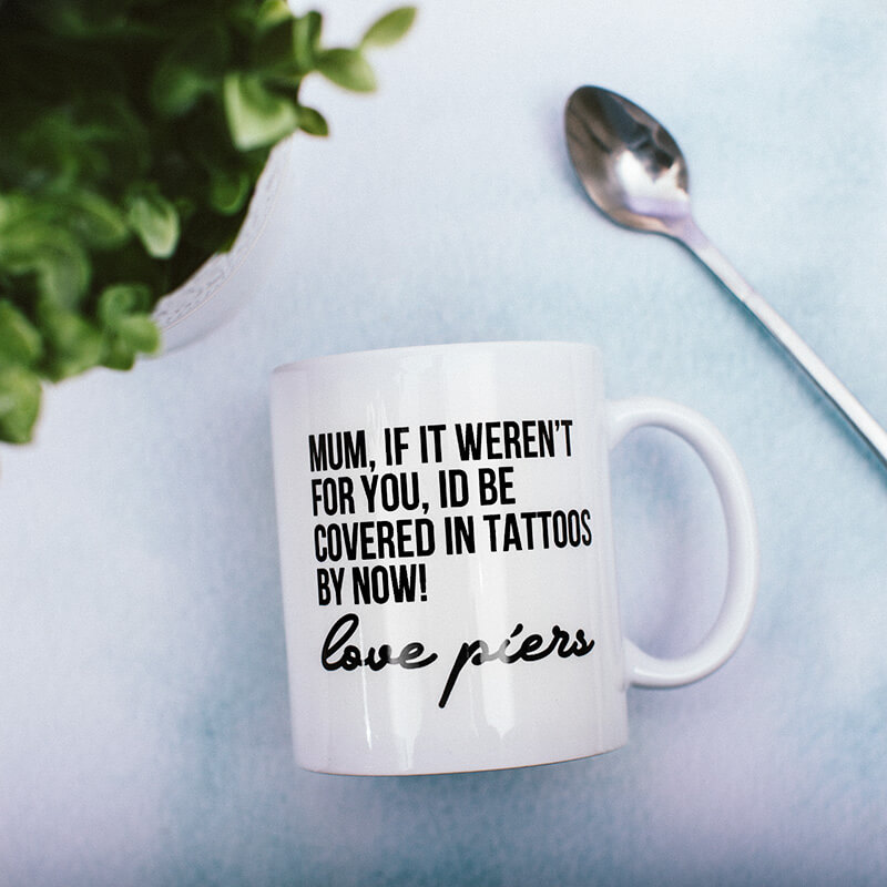 Personalised Covered In Tattoos Mug