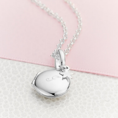 Personalised Initial Lulu Locket Necklace