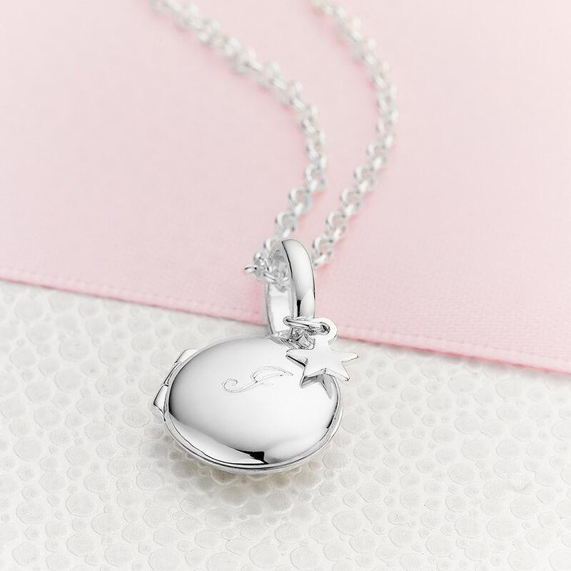 Personalised Initial Lulu Locket Necklace