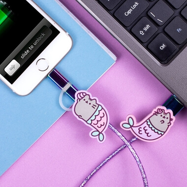 Pusheen USB Charging Cable - Mermaid