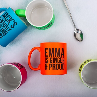 Personalised Ginger and Proud Mug