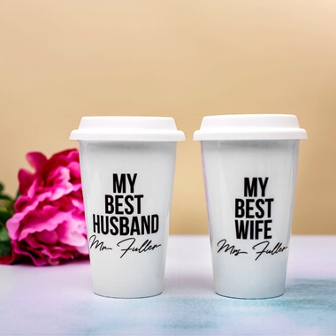 Personalised Couples Travel Mugs