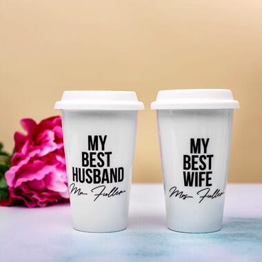 Personalised Couples Travel Mugs
