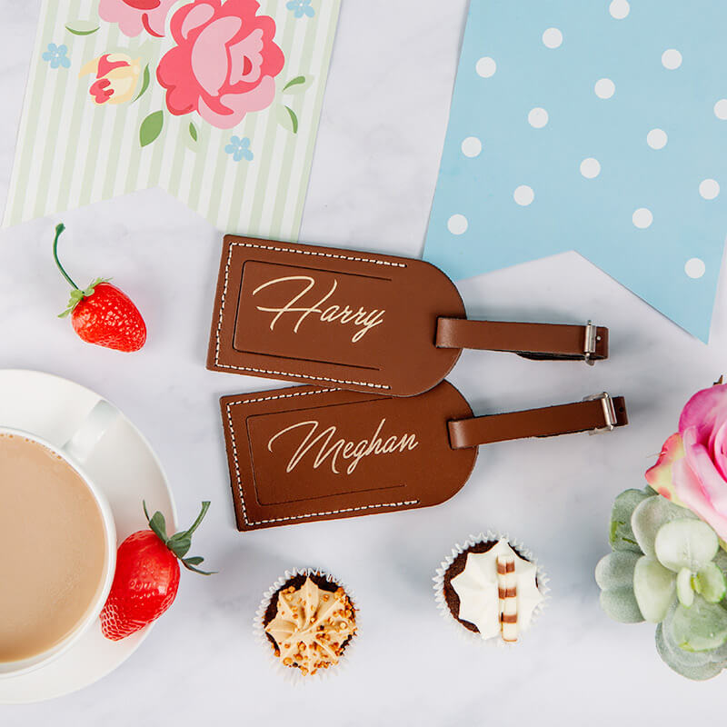 Personalised Set of Two Leather Luggage Tags - Buy from Prezzybox.com 3c4c1b56c