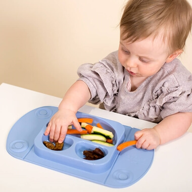EasyMat Portable Baby Suction Plate - Blue