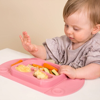 EasyMat Portable Baby Suction Plate - Pink