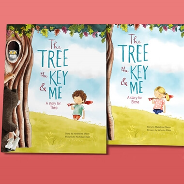 Personalised The Tree, The Key and Me Children's Character Book