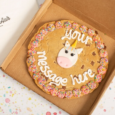 Personalised Unicorn Chocolate Chip Cookie