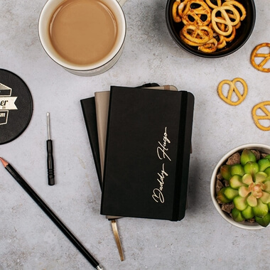 Personalised Daddy Leather Notebook