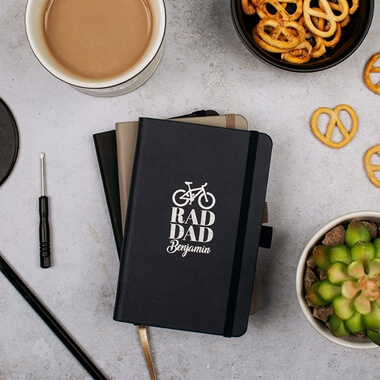 Personalised Rad Dad Leather Notebook