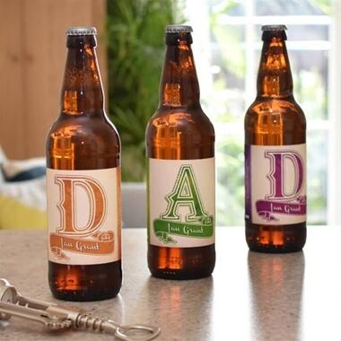 Personalised Beer 3 Pack Dad Set Label