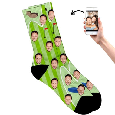 Personalised Face on Golf Socks