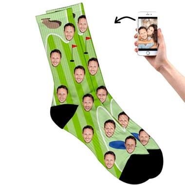 Personalised Face on Golf Socks