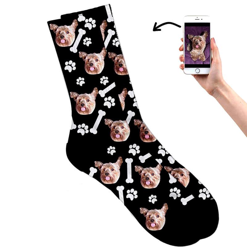 Personalised Dog on Socks