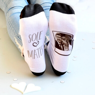 Personalised Sole Mates Photo Socks