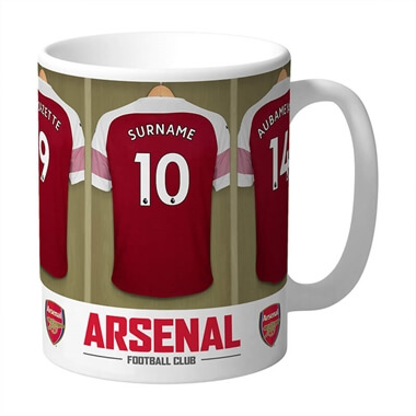 Personalised Arsenal Dressing Room Mug