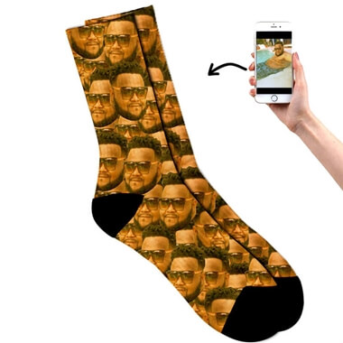 Personalised All Over Face Socks