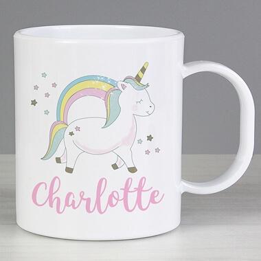 Personalised Baby Unicorn Plastic Mug