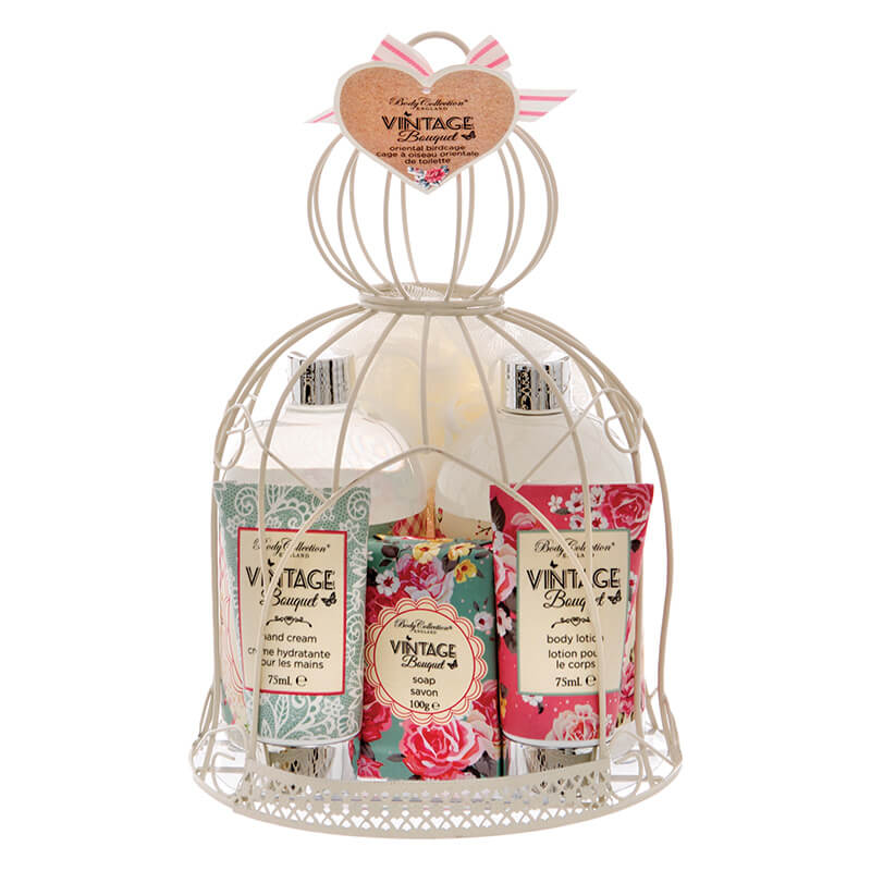 Oriental Birdcage Vintage Bouquet Body Set