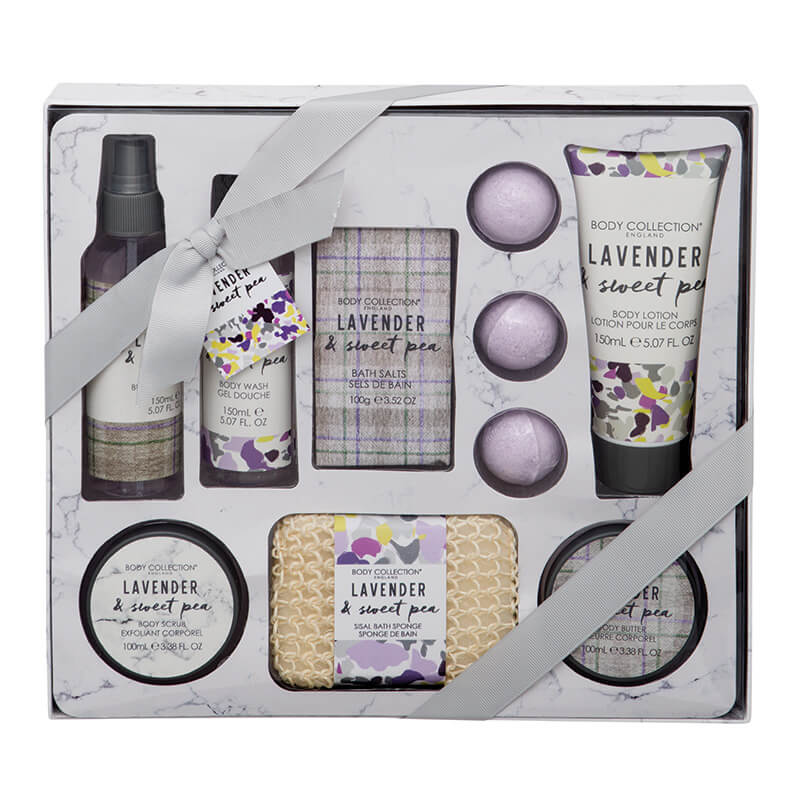 Lavender And Sweet Pea Bath And Body Hamper