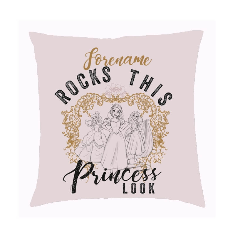 Personalised Disney Rock This Princess Cushion