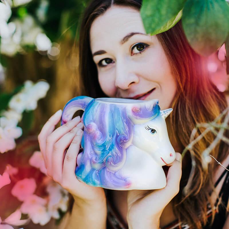 Enchanted Rainbows Unicorn Head Mug