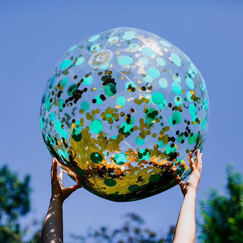 Giant Glitter Beach Ball