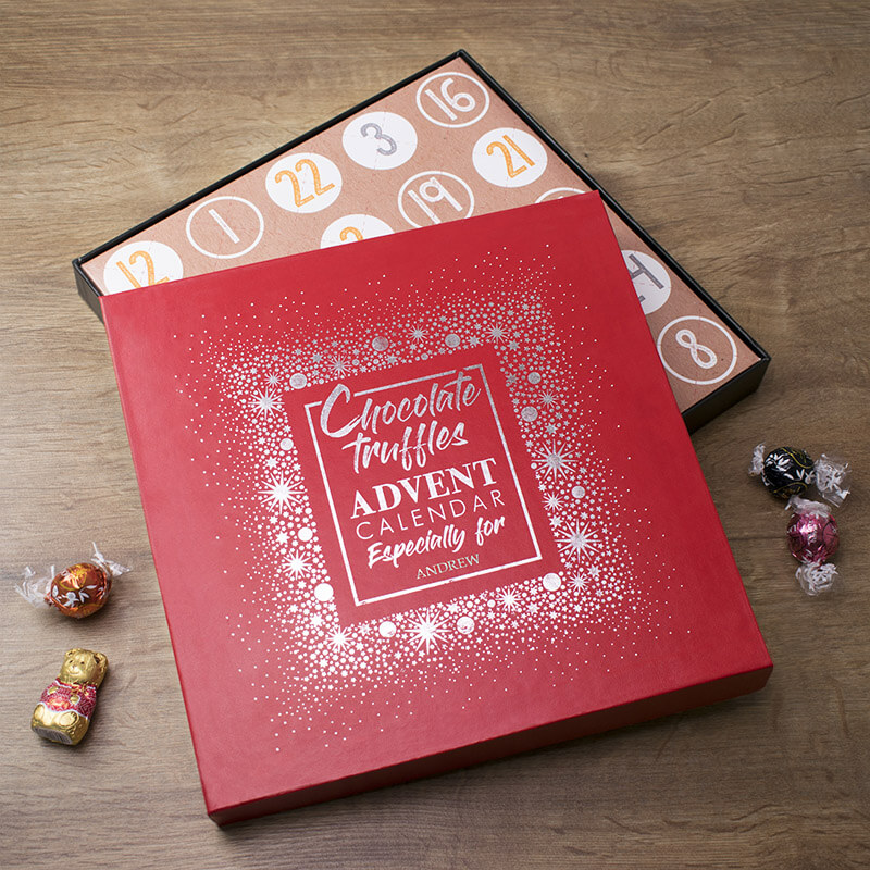 Personalised Chocolate Truffle Advent Calendar