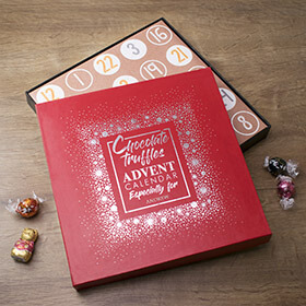 Personalised Chocolate Truffle Advent Calendar