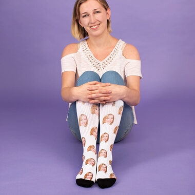 Personalised Face on Socks