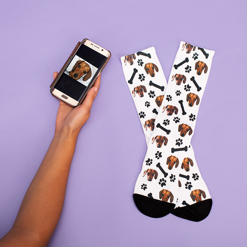 Personalised Dog on Socks