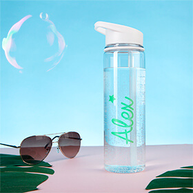 Personalised Green Star Water Bottle