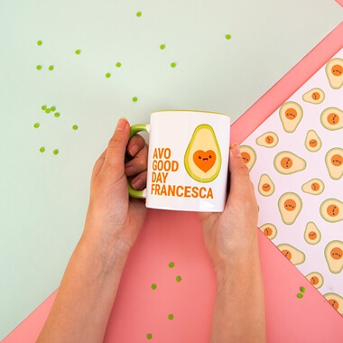 Personalised 'Avo Good Day' Mug