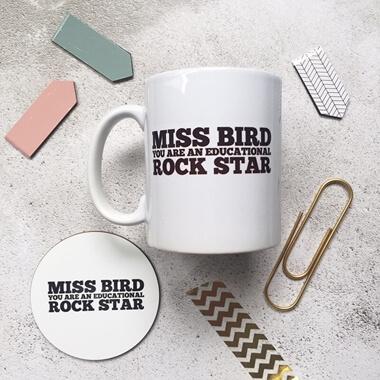 Personalised Educational Rock Star Mug Set