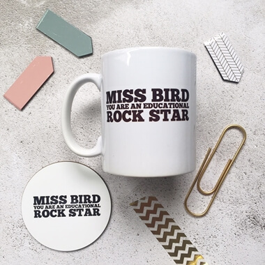 Personalised Educational Rock Star Mug Set