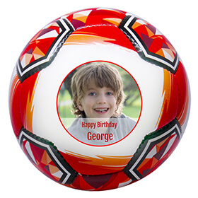 Personalised Photo Full Sized Red Football