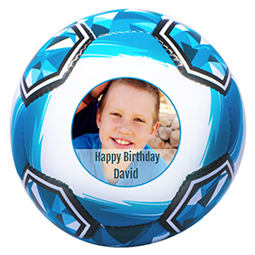 Personalised Photo Full Sized Blue Football