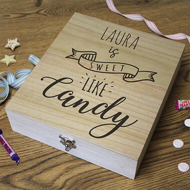 Personalised 'Sweet Like Candy' Retro Sweet Box