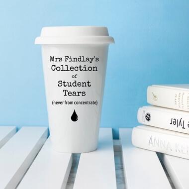Personalised Student Tears Travel Mug