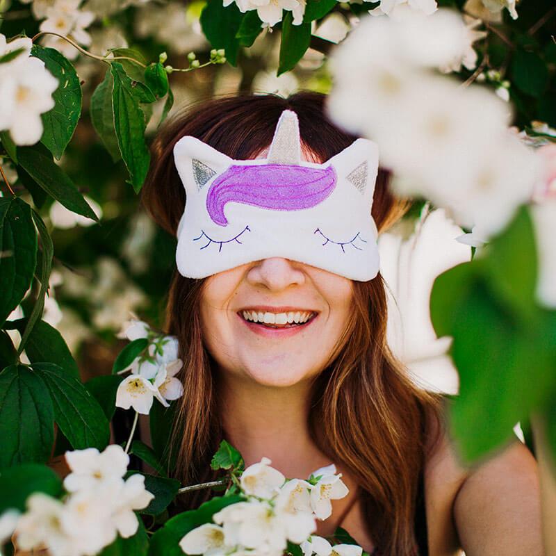 Enchanted Rainbows Unicorn Eye Mask