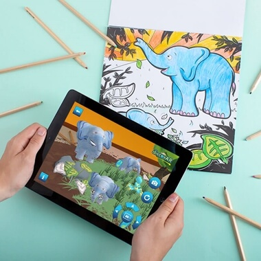 Augmented Reality Colouring Book - In The Jungle
