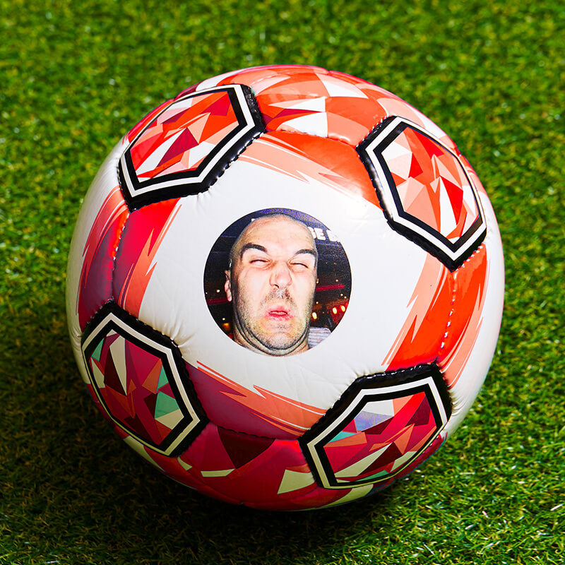 Personalised Photo Football - Red