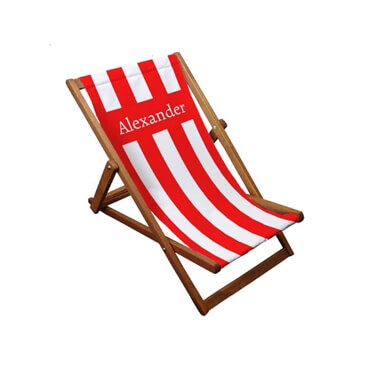 Personalised Canvas Deckchair With Hardwood Frame