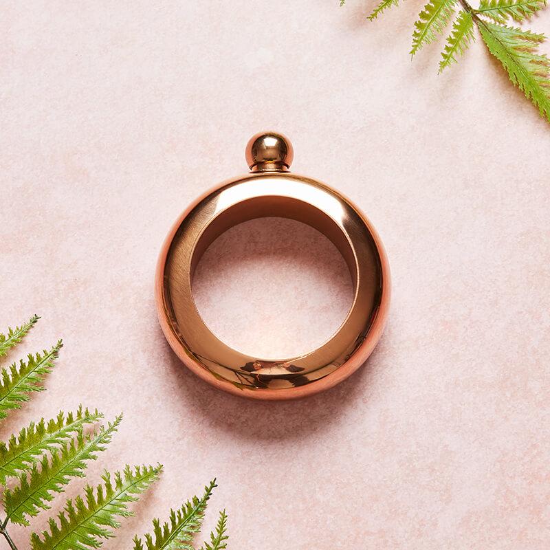 Booze Bangle - Rose Gold Hip Flask Bracelet