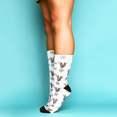 Personalised Reindeer Me Socks