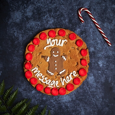 Personalised Gingerbread Chocolate Chip Cookie
