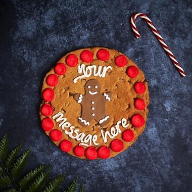 Personalised Gingerbread Man Chocolate Chip Cookie
